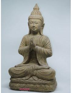 Statua Buddha polvere pietra H 48