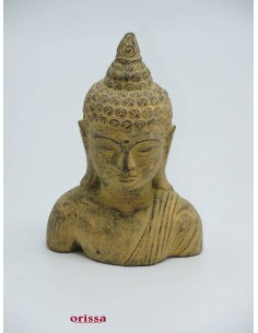 Imagén: Statua mezzo busto Buddha pietra H 20