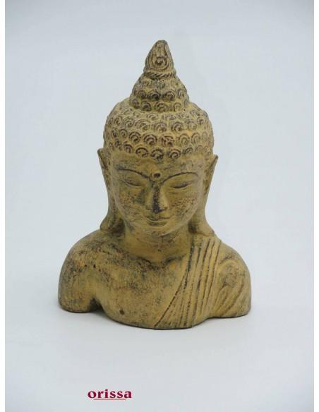 Statua Testa Buddha pietra H 20