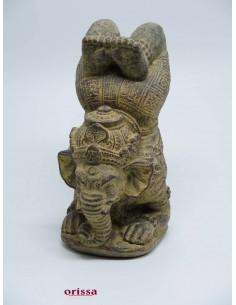 Statua divinità Ganesh gambe alzate
