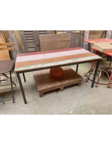 Piani tavolo legno colorati