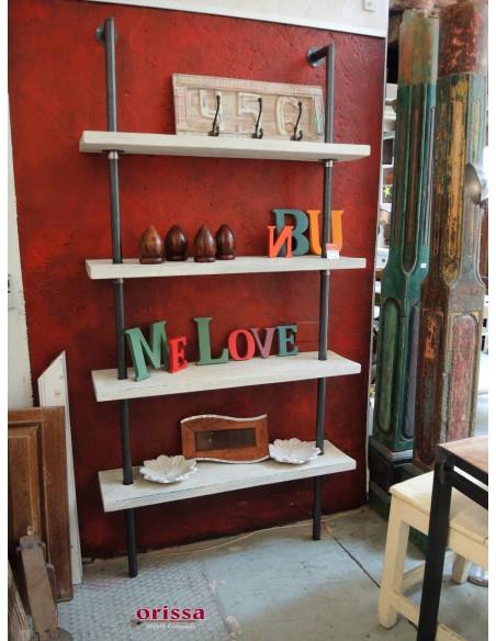 Libreria da parete Industrial Chic