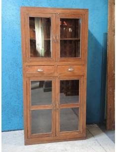 Vetrina legno con cassetti