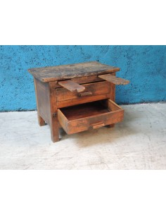 Tavolino con cassetti legno