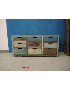 Cassettiera bassa recycled