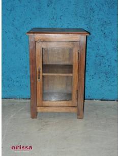 Comodino coloniale anta vetro