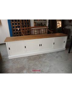 Credenza porta TV legno colorato 246cm