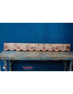 Fregio testata legno rosa antico