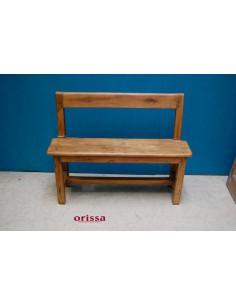 Panca con schienale legno di teak