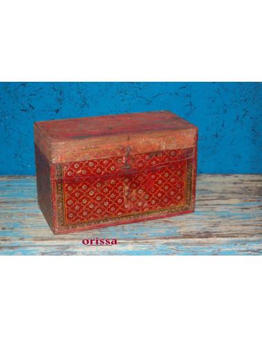 Bauletto legno rossa decorata