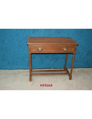 Foto Di Tavoli In Legno.Tavolino Con Cassetto Coloniale In Legno Di Teak S5022 Orissa Milano
