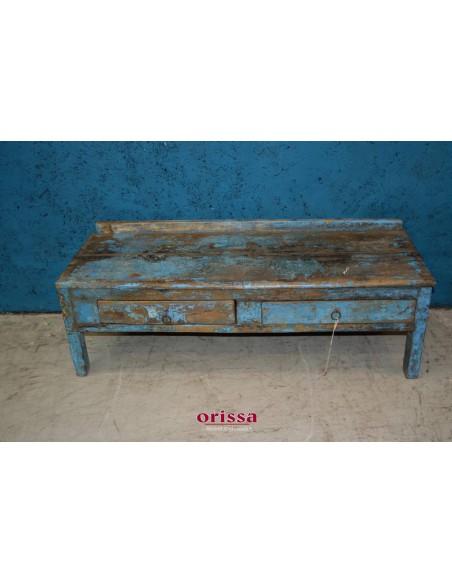 Tavolino shabby colore blu