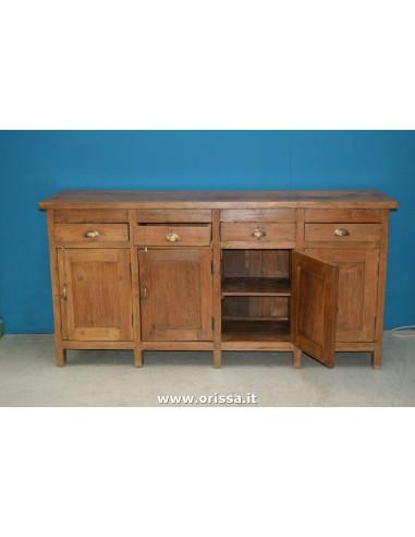 Buffet legno di teak epoca coloniale