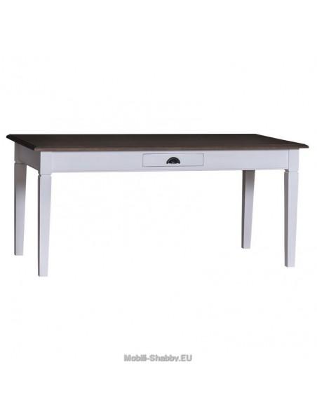 Tavolo con cassetto provenzale colorato 210cm