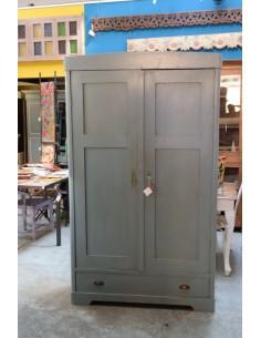 Armadio vintage grigio/azzurro