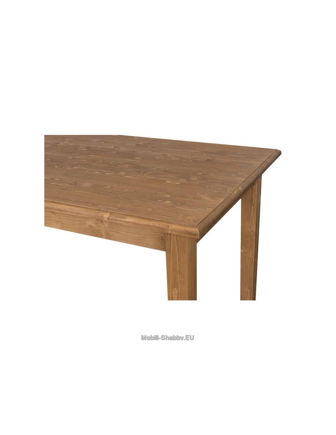 Tavolo da pranzo 160cm provenzale colorato ms4621 180 orissa milano - Tavolo in legno massello prezzi ...
