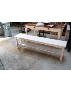 Imagén: Panca legno verniciata colore bianco