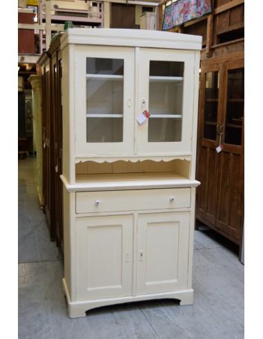 Credenza vintage legno colore bianco