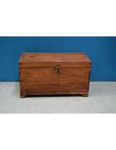 Baule coloniale in legno di...