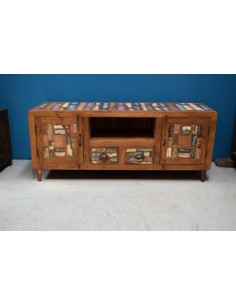 Mobile porta TV recycled teak