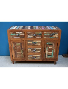Buffet recycled teak