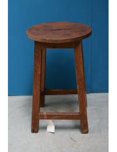 Sgabello tondo in legno di...