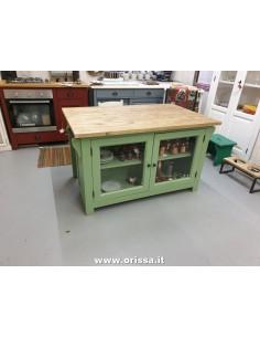 cucina isola legno massello