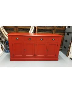 Credenza rossa ante cassetti