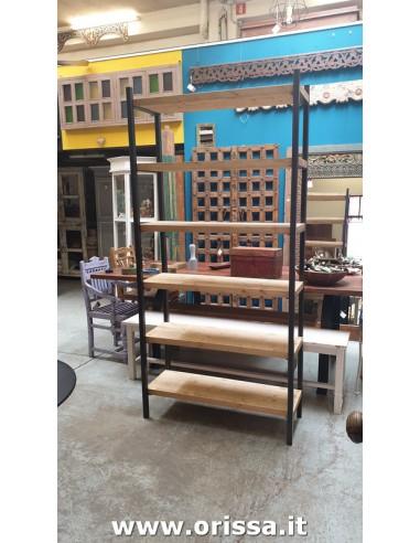 Scaffale legno e ferro