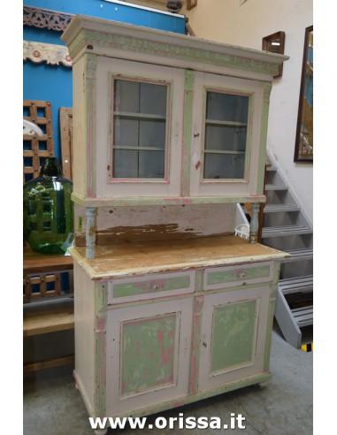Credenza vintage legno massello rosa...