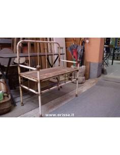 Panchina vintage legno e ferro