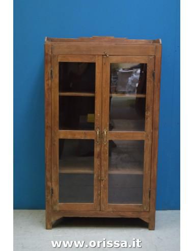 Vetrina legno di teak con balconcino