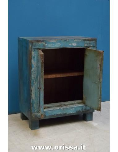 Armadietto/credenzino blu shabby