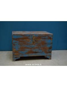 Baule blu shabby