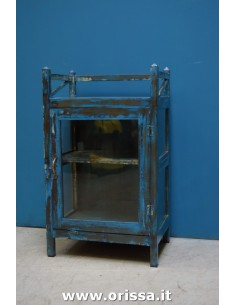 Vetrina blu con balconcino
