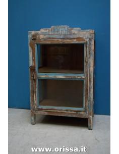 Vetrina shabby blu/marrone