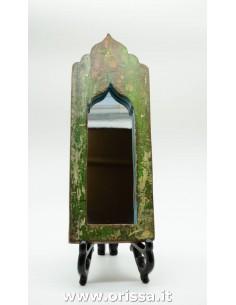 Specchio con cornice verde