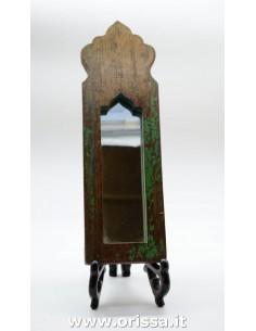 Specchio con cornice legno