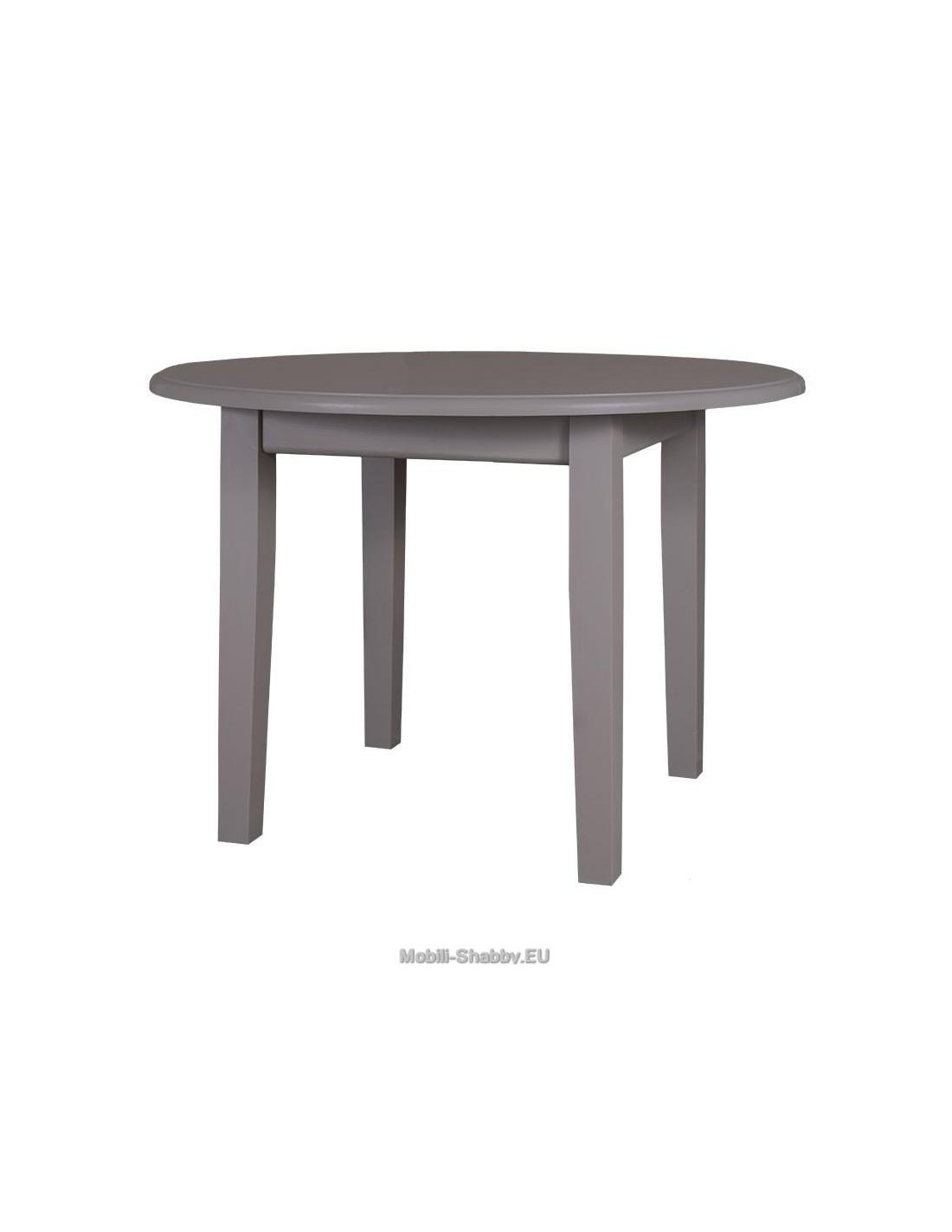 Tavolo rotondo estensibile e allungabile ms368 mobili - Tavolo rotondo shabby ...