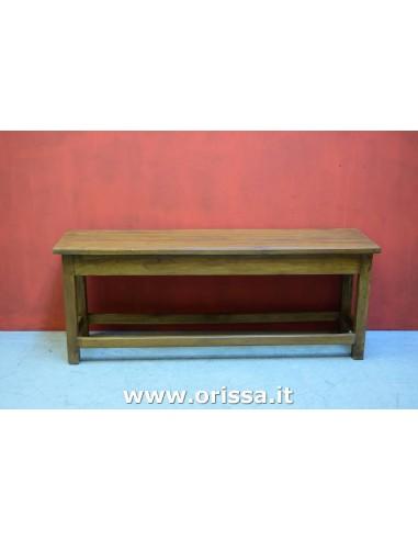 Panca in legno massello coloniale
