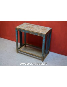 Tavolino vintage blu