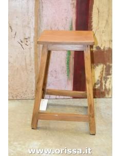 Sgabello legno di teak