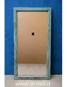 Cornice specchio azzurro