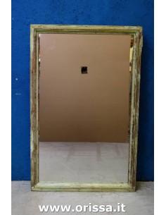 Cornice specchio verde