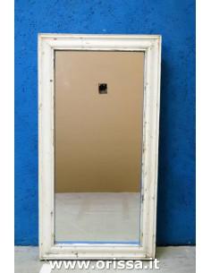 Cornice specchio bianco