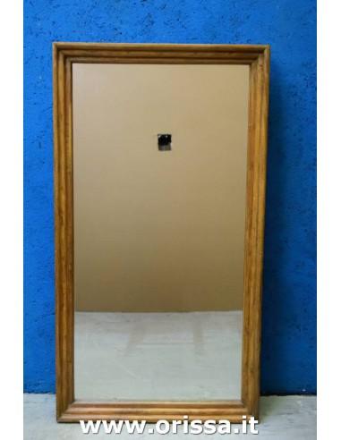 Cornice specchio legno