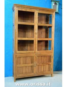 Vetrina coloniale in legno...
