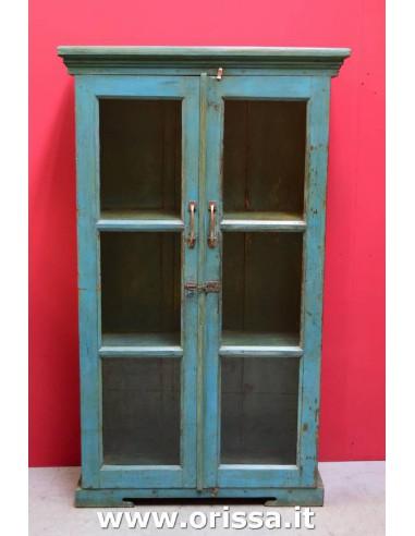 Vetrina coloniale colore turchese