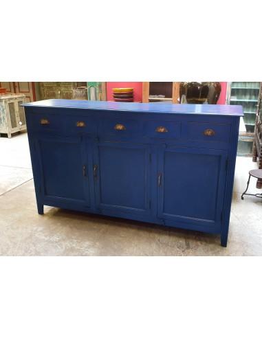 Credenza legno massello colore blu