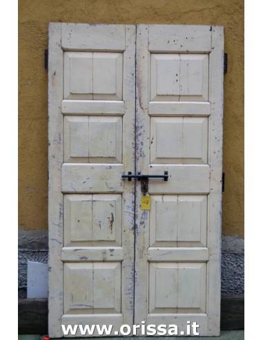 Porte vintage bianco decapato